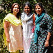 Ananda Pune three women devotees