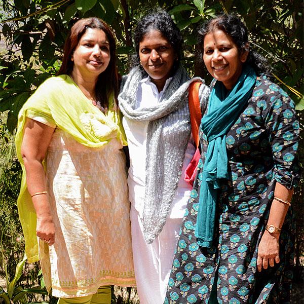 Ananda Pune three women devotees